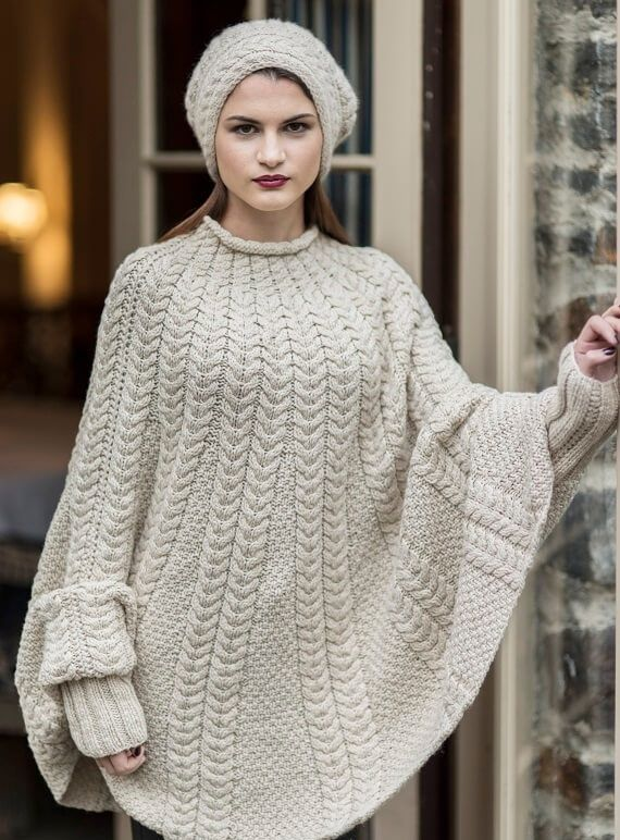 Kitt Cable Poncho HANIA by Anya Cole Fall 2016