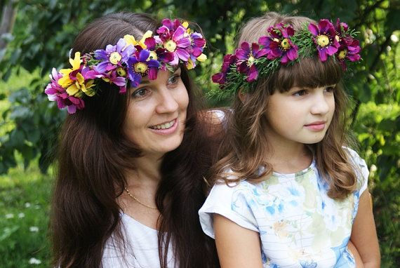 flower crowns mummy and me mummy and daughter hair by mamwene