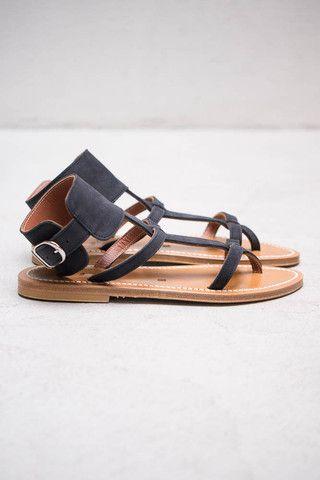 K Jacques Caravelle Black Noir Sandal $300