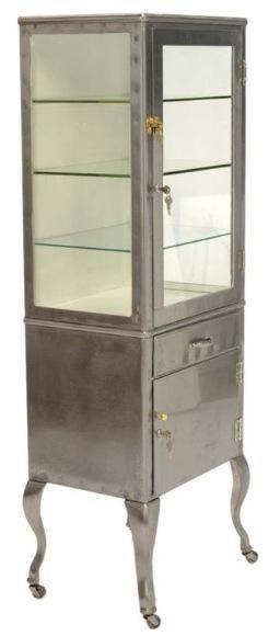 Vintage Medical Cabinet on Chairish.com