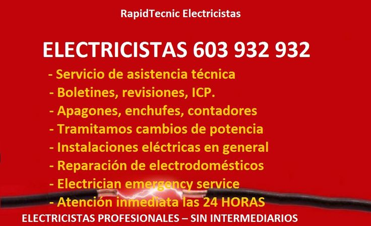 22 best electricistas santa pola 603 932 932 images on - Electricistas valencia ...