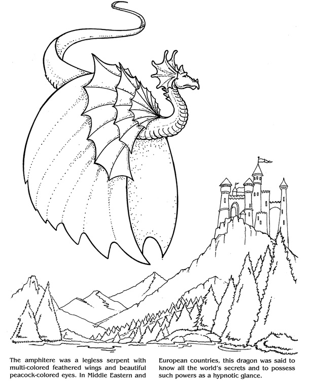 1000 images about coloring book on pinterest for Dragon and castle coloring pages