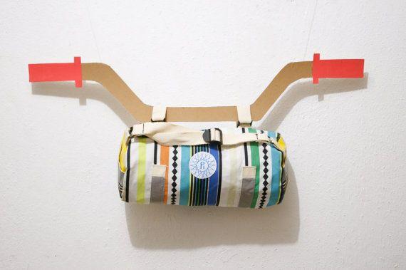 Rainbow bike bag for gear or tube