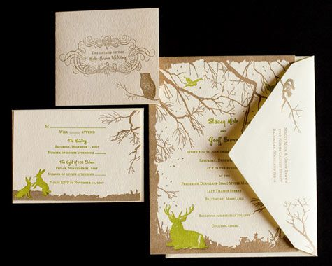 Cute invites!  This page has lots of woodland and forest inspirations.