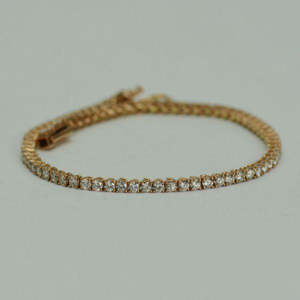 Bratara din aur roz cu diamante
