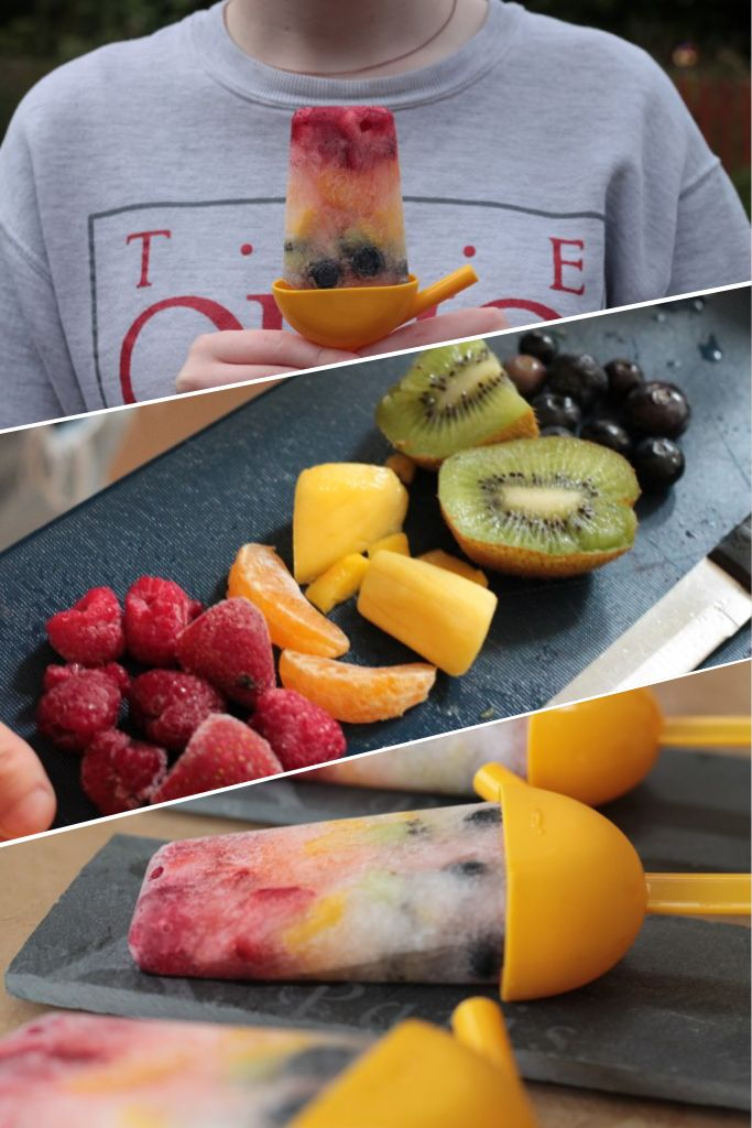 Rainbow ice lollies for pride!!! Super healthy, super delicious, and perfect for summer!!