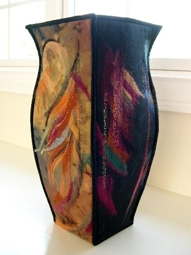 beautiful felted vessel | fiberella.com...click the gallery tabs for more great examples of work.