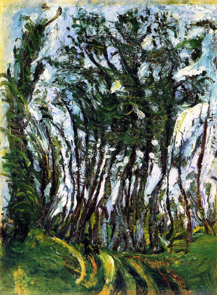 "wetreesinart: "" Chaim Soutine (Russ. 1893-1943), Autumn Trees, Champigny, vers 1942-1943, 78 x 59 cm, collection privée """