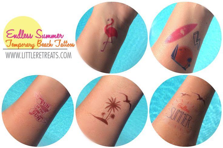 Temporary Tattoos made with Cricut Explore -- Little Retreats. #DesignSpaceStar Round 2
