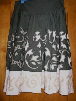 Alabama Chanin reverse applique skirt