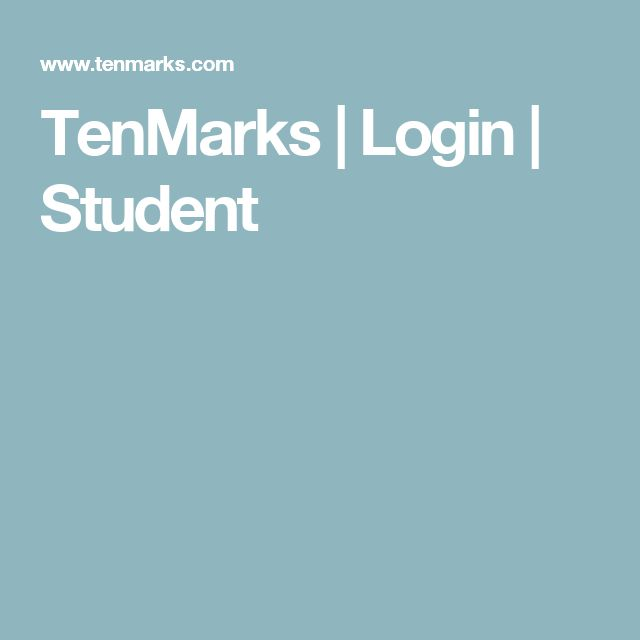 TenMarks | Login | Student