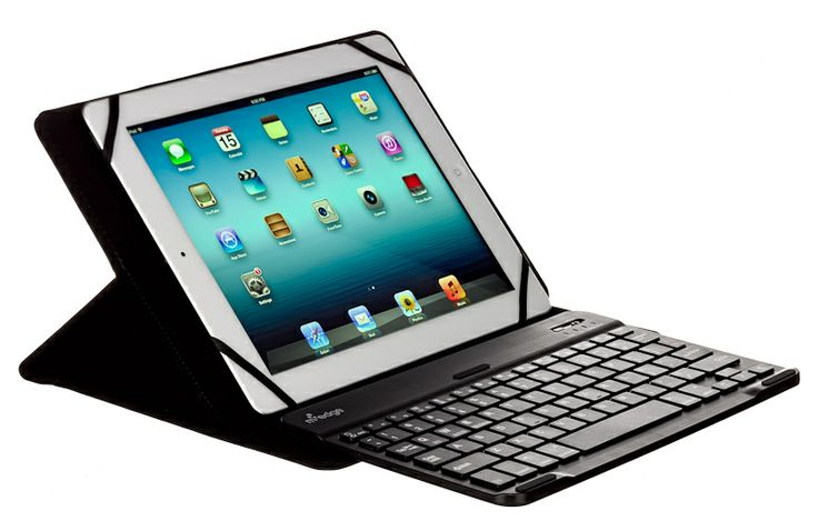 Type comfortably with a removable Bluetooth™ Keyboard and stand the device at any angle with GripTrack™ technology. The Universal Stealth Pro Keyboard Case for 10 inch devices is all that, in a super slim package. EreadersRus  - Stealth Pro Keyboard case for iPad and other Tablets, AUD129.00 (http://www.ereadersrus.com.au/stealth-pro-keyboard-case-for-ipad-and-other-tablets/)
