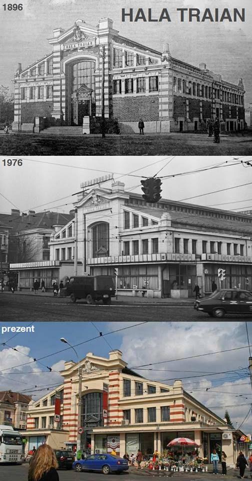 Hala Traian, cea mai veche construcție de acest tip (cu destinație de piață) din București.  A fost inaugurată în 1896 (arhitect: Giulio Magni). Hala avea parter și subsol, 44 de magazine de carne, legume, coloniale etc. și 2 scări care coborau de la parter la subsol, unde existau 12 bazine pentru pește viu, depozite, ventilatoare pentru aerisire și utilaje frigorifice (informații via http://www.flickr.com/photos/10065605@N04/)  În perioada comunistă, aspectul exterior industrial a fost…