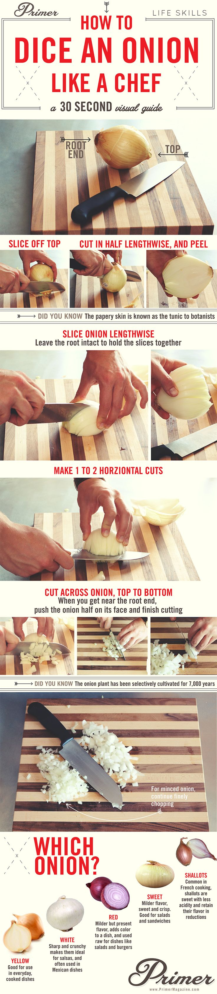 How to dice an onion like a chef