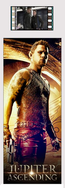 Caine Wise (Channing Tatum) stands ready to fight to defend Jupiter Jones in this special edition bookmark that has a real film cell from the movie embedded in it. Help defend Jupiter from Balem - and