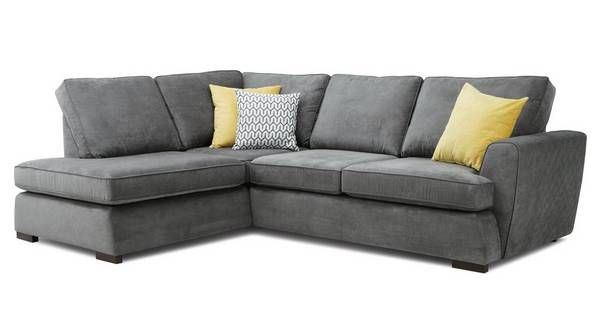 Pryzm Right Hand Facing Arm Open End Corner Sofa Plaza Dfs In 2020 Corner Sofa Living Room Dfs Corner Sofa Corner Sofa