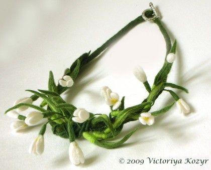 """Колье, бусы ручной работы. Ярмарка Мастеров - ручная работа Колье  для невесты """"Весна"""". Handmade."""