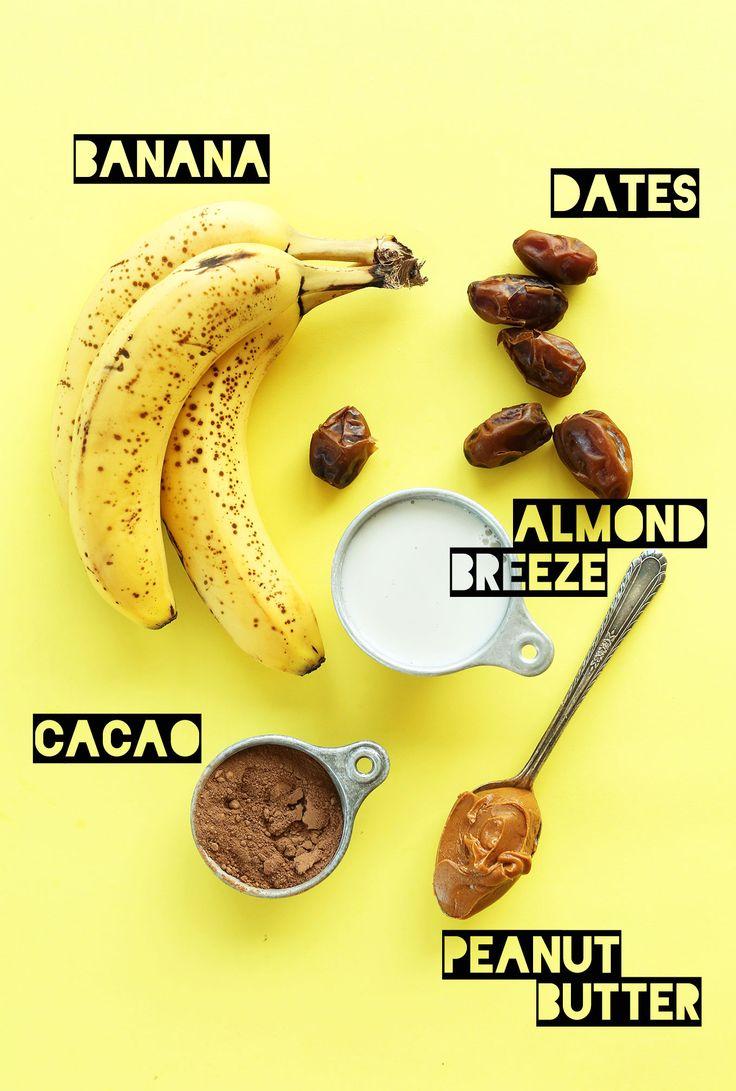 5 Ingredient Peanut Butter Banana Milkshake! #vegan #glutenfree