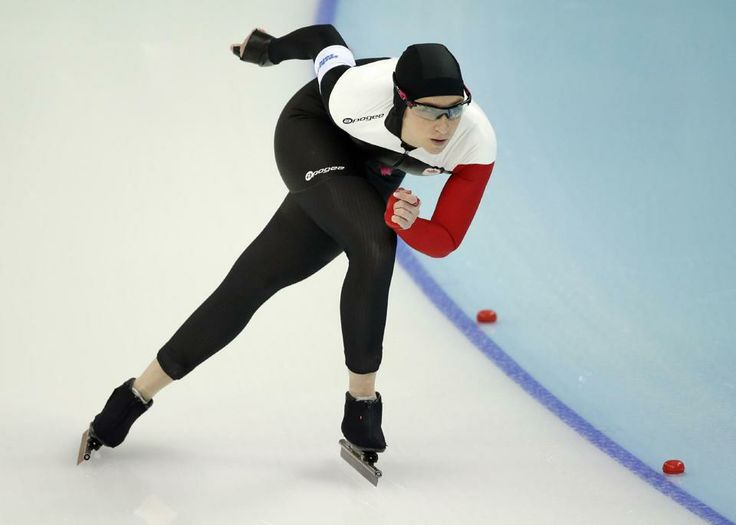 DAY 13:  Ivanie Blondin of Canada competes during the Speed Skating Women's 5000m http://sports.yahoo.com/olympics