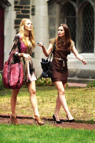 "Serena van der Woodsen and Blair Waldorf attending interview's for college in the episode ""The Undergraduates""......."