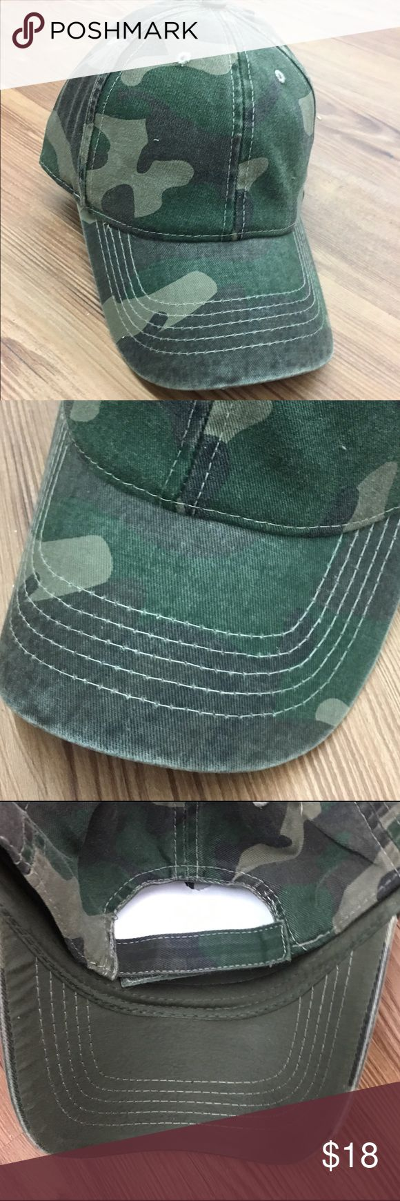 Women's Camo Baseball Adjustable Cap Hat New Women's Camo Baseball Adjustable Cap Hat . Velcro adjustable custom size fit. Bundle and get 20% off. Accessories Hats