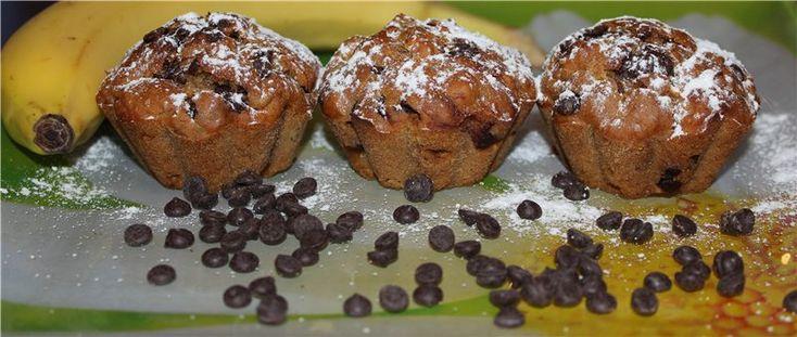 Кофейно-медовые кексы с бананом и шоколадными каплями