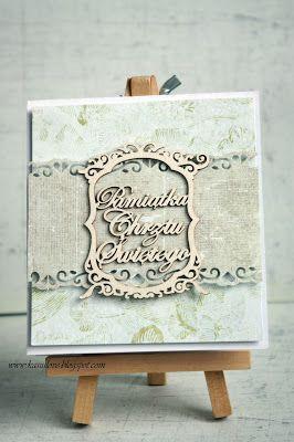 kartka z życzeniami / scrapbooking / kartka na chrzest / kartka z okazji chrztu w beżu