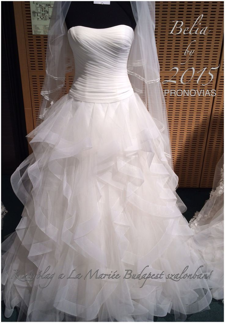 Belia by 2015 PRONOVIAS Exclusively at La Mariée Budapest #wedding #bridal #bridaldress #weddingdress #bridalgown #weddinggown