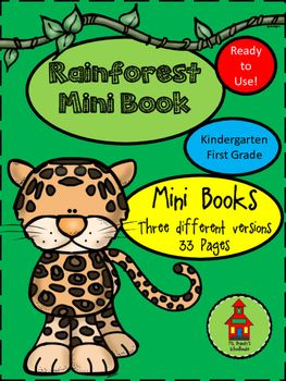 Mini Rainforest Book with three versions:*Book with text and colored pictures*Book with traceable text and pictures to color*Book with blank text lines and pictures to color