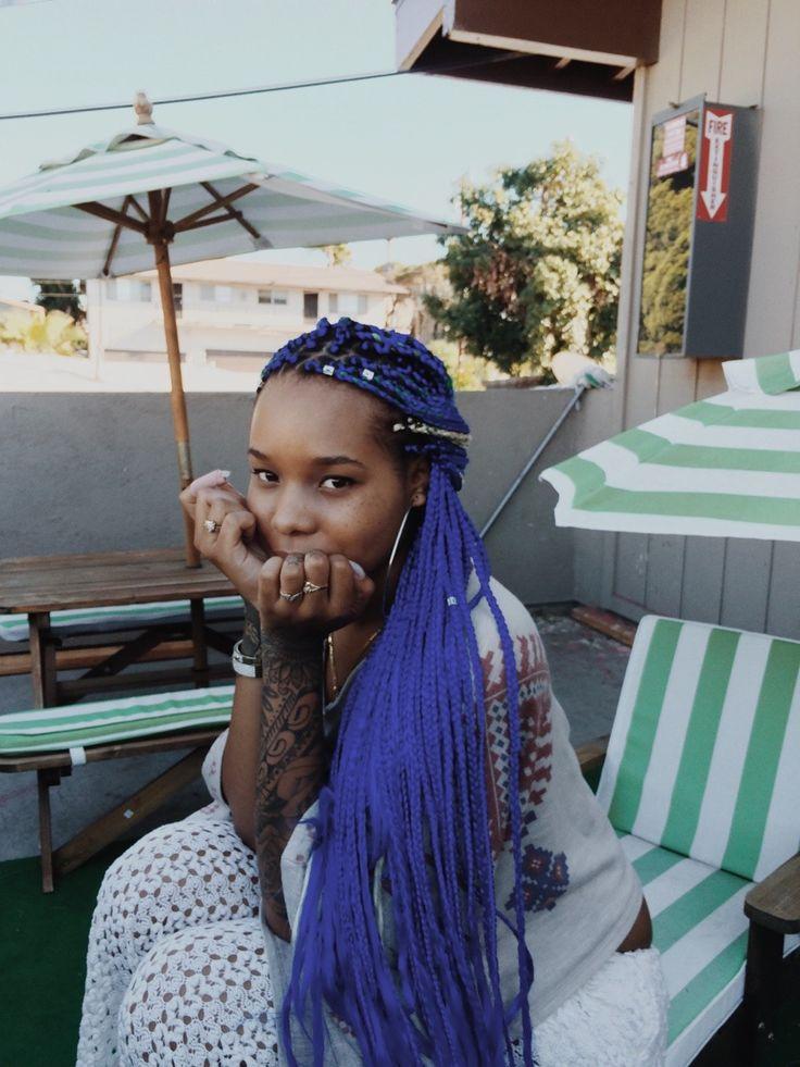 Ghetto Braids: Best 25+ Blue Box Braids Ideas On Pinterest
