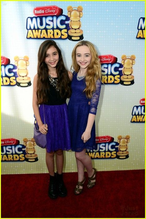 """Rowan Blanchard and Sabrina Carpenter, stars of Disney Chanel's upcoming sequel series to the 90's hit show, Boy Meets World. The show is called """"Girl Meets World"""" I can't wait!"""