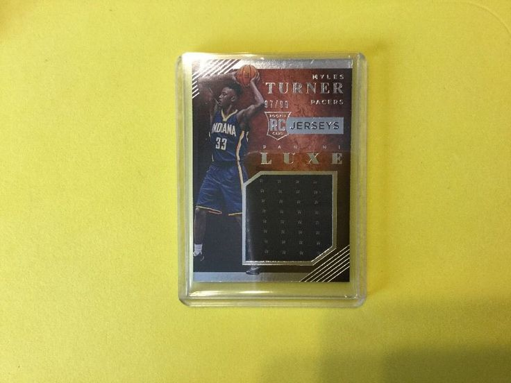 2015/16 Panini Luxe Jerseys 97/99 MYLES TURNER RC #IndianaPacers