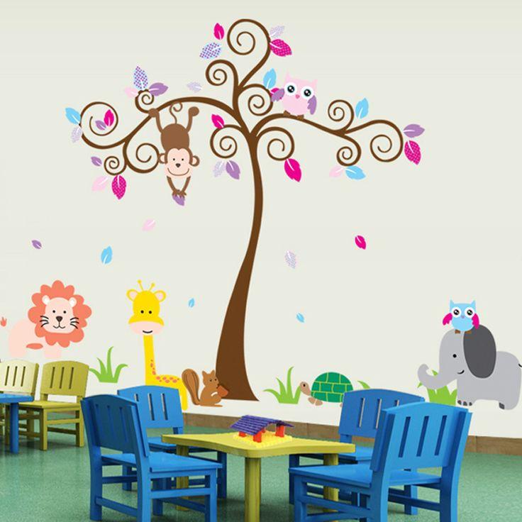 Zsiráf, oroszlán, majom, teknős, elefánt egy fa tövében gyerekszoba falmatrica.  #zsiráf #oroszlán #elefánt #gyerekszobafalmatrica #falmatrica #gyerekszobadekoráció #gyerekszoba #matrica #faldekoráció #dekoráció
