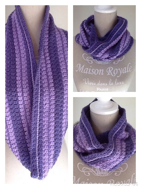 Free Crochet Infinity Scarf Patterns With Buttons : Ravelry: MaatjeKs Infinity scarf/cowl (Free crochet ...