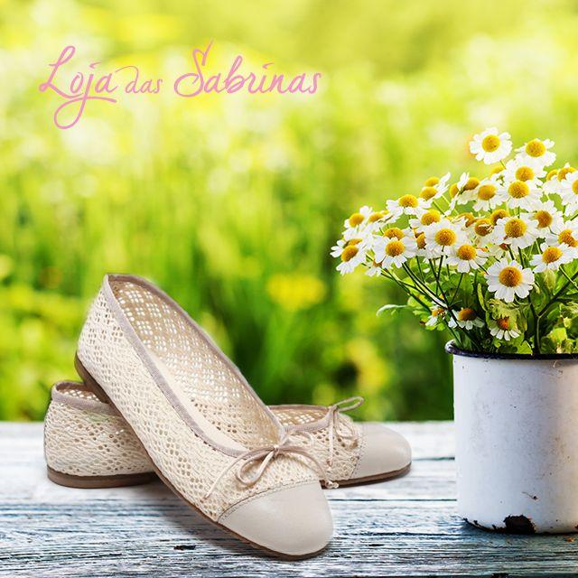 Descobre a novidade da próxima estação. As Sabrinas Margarida vão ser o teu par predileto este verão! http://www.lojadassabrinas.com/product/margarida
