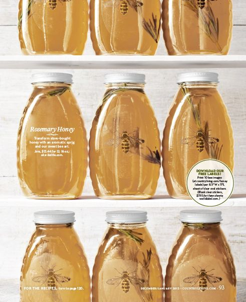 clear labels (free download for your honey!)