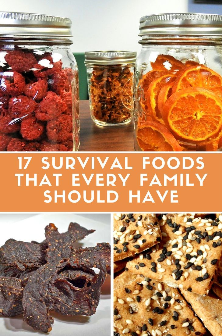 17 survival foods that every family should have - Be prepared and stock up Must have survival foods for every family to be prepared in case of disaster #prepping #preparedness #foodstorage