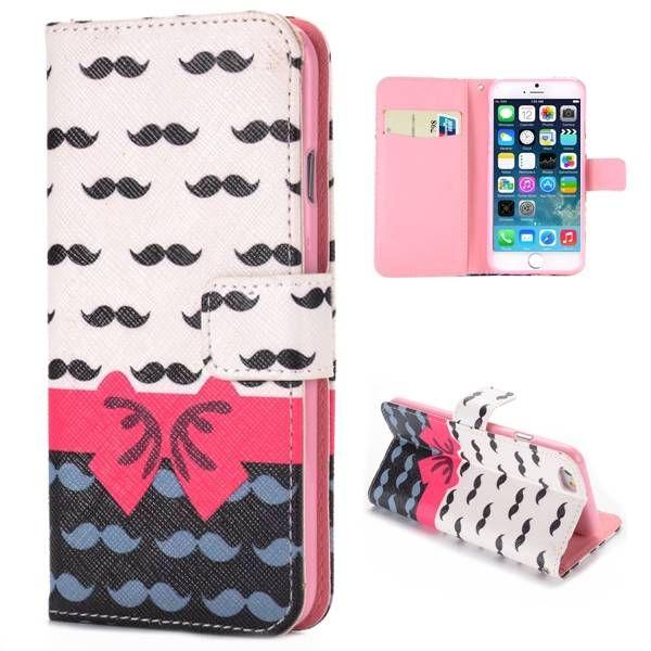 Moustache & roze strikje hoesje voor iPhone 6 Plus