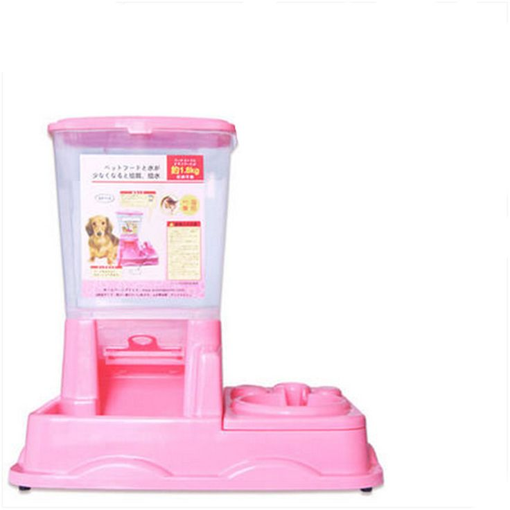 Automatic Dog Feeders Waterers Bowl For Cats Cachorro Pou Chiens Cuenco Gato Pet Food Dispenser Hamster Water Bottle Cats BBMCC0