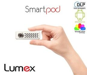 Lumex Picomax Smartpod wifi blutooth Projector with Android Operating System, mx 100, DLP Multimedia, High Speed Wi-Fi, with HDMI/VGA/USB/AV Inputs