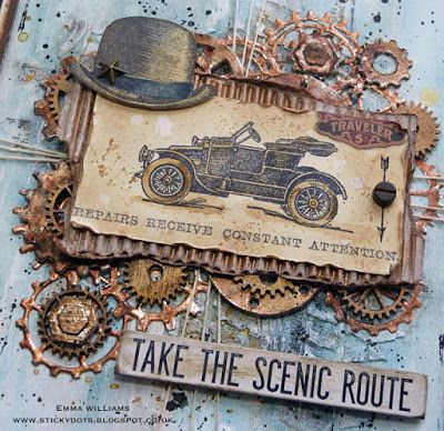 That's Life: Tim Holtz Vintage Auto stamp set