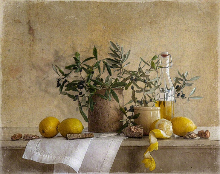 Tineke Stoffels Still Life with olives and lemons