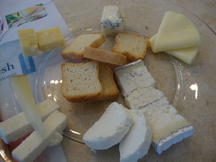 A cheese lover's plate at the wine and cheese tasting