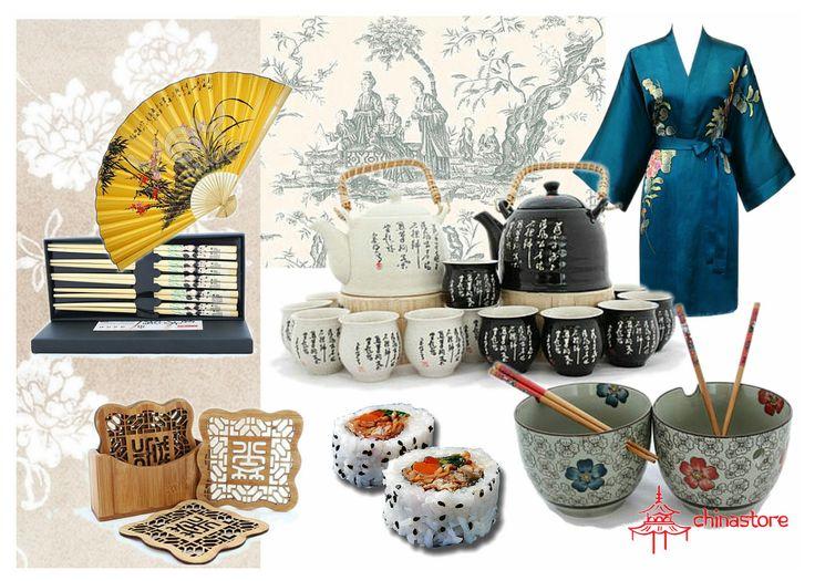 Seturi de ceai, boluri chinezesti si suporturi din bambus