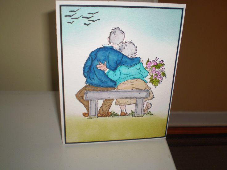 vieillards assis sur banc