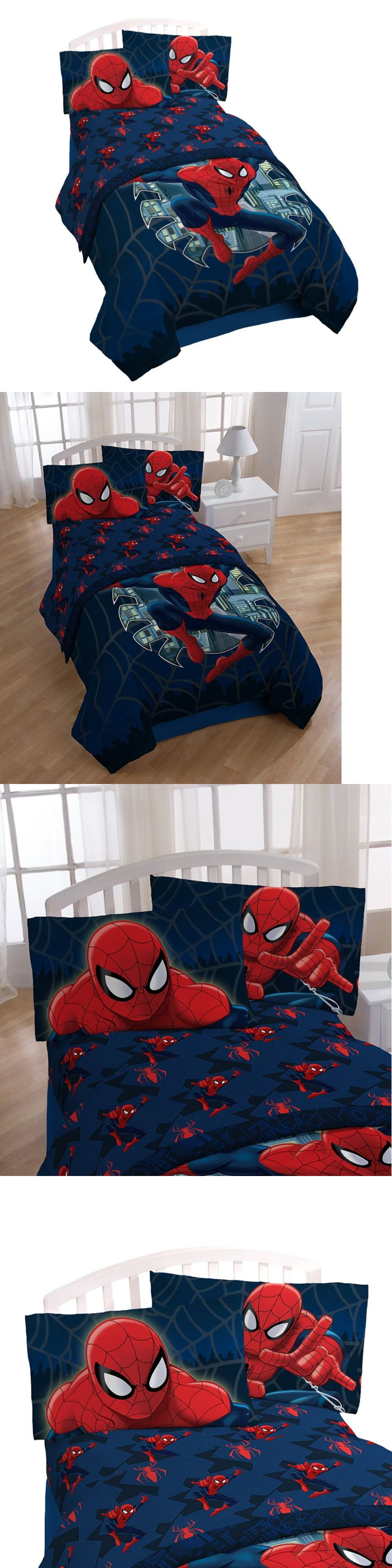 Sheets 79619: Marvel Spiderman Theme Boys Bedroom Pack, Bed Decoration Twin Sheet Set 3 Pc -> BUY IT NOW ONLY: $45.99 on eBay!