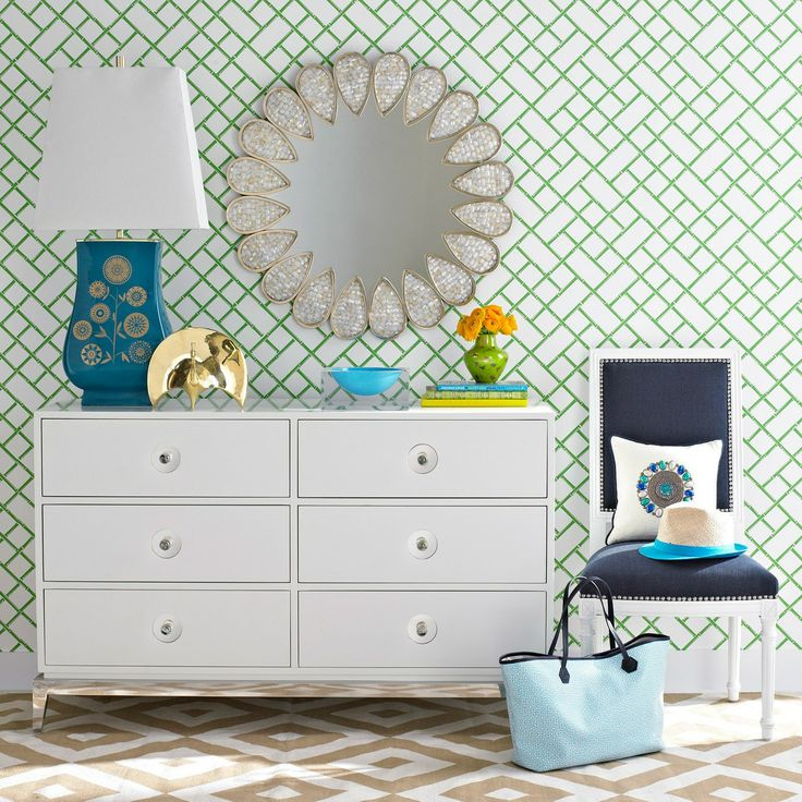 Jonathan Adler Wallpaper Bamboo GreenDecor, Layla Grayce, Petals Mirrors, Wallpapers Bamboo, Petals Laylagrayce, Bamboo Green, Design, Jonathan Adler Wallpapers, Green Laylagrayce