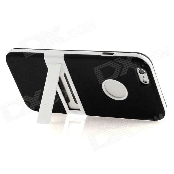 """Hat-Prince Protective TPU Case Cover w/ Stand for IPHONE 6 4.7"""" - Black - Free Shipping - DealExtreme"""