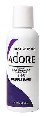 Adore by Creative Image Semi Permanent Hair Dye Color 118mL 116 Purple Rage