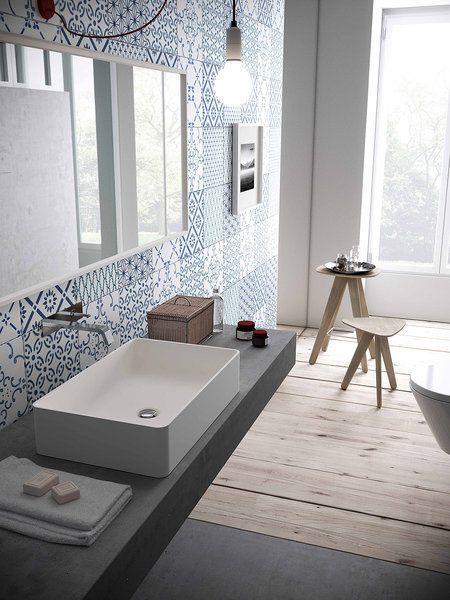 lavabo sobre encimera de cemento pulido                                                                                                                                                                                 Más